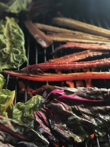chard on grill