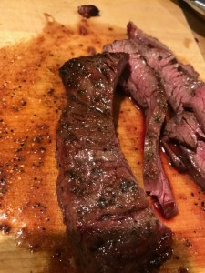 sliced skirt steak