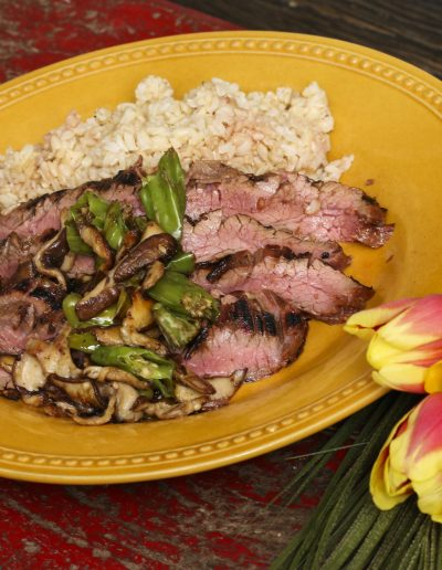 Asian Flank Steak with Shi-Shi Sautee