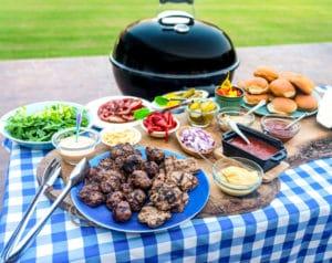 slider bar with weber kettle grill