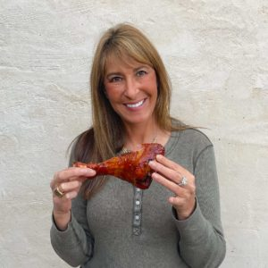Melissa with Turkey Leg