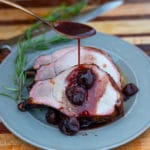 bone in pork loin with smoked cherry sauce
