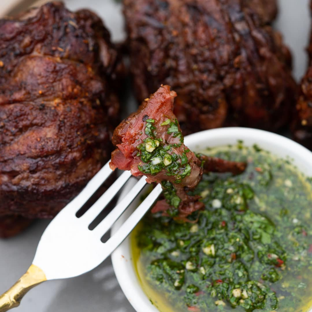 chimichurri on steak