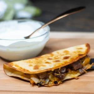 quesadilla with cream