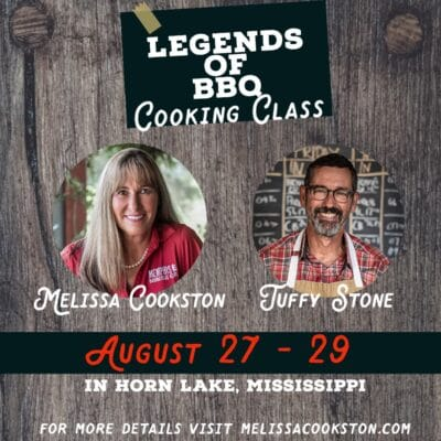legends of BBQ cooking class August 27-29