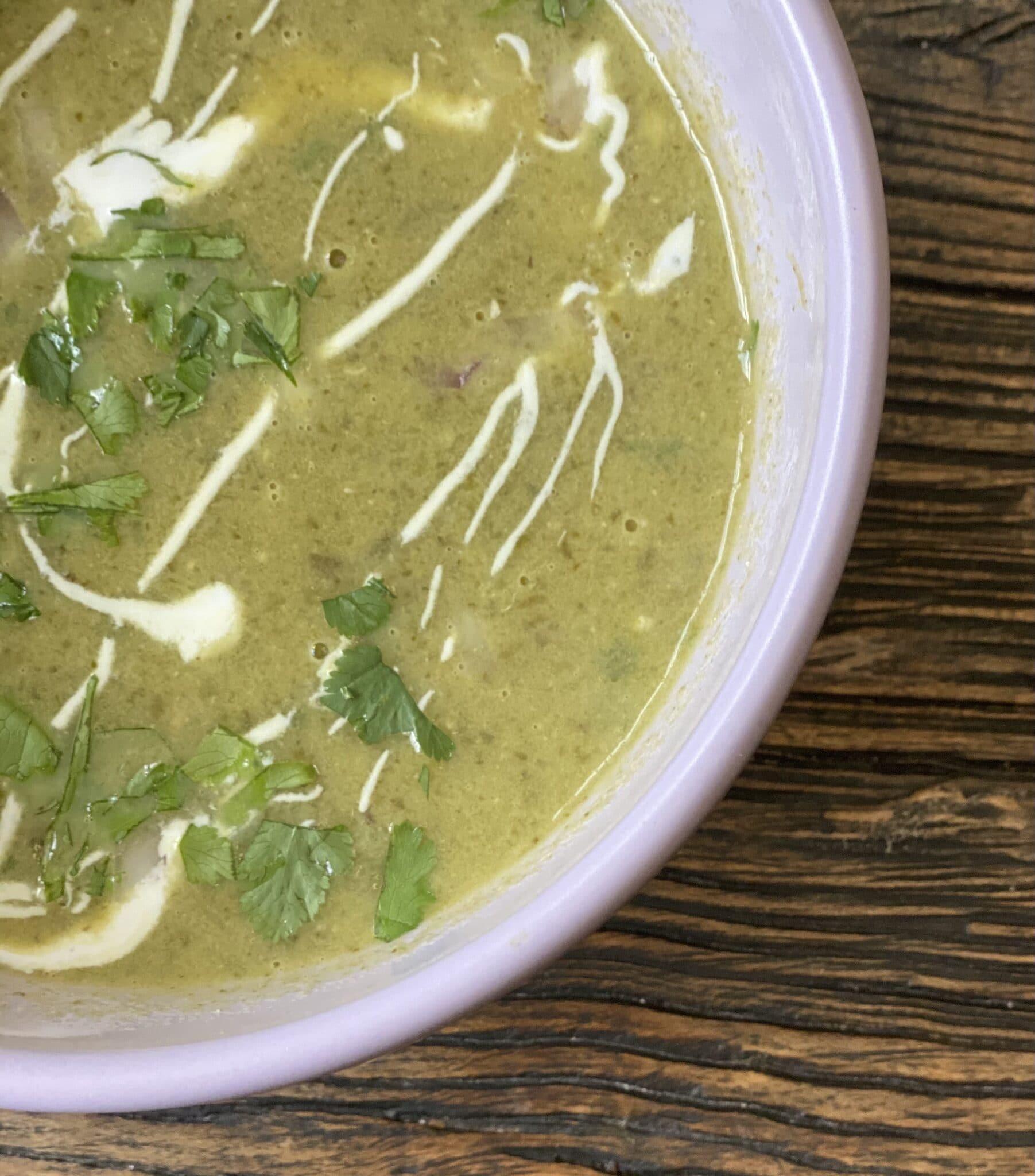 smoked poblano soup