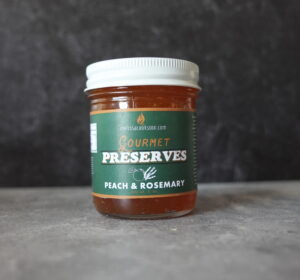 peach rosemary jam