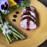 blackberry glazed pork tenderloin